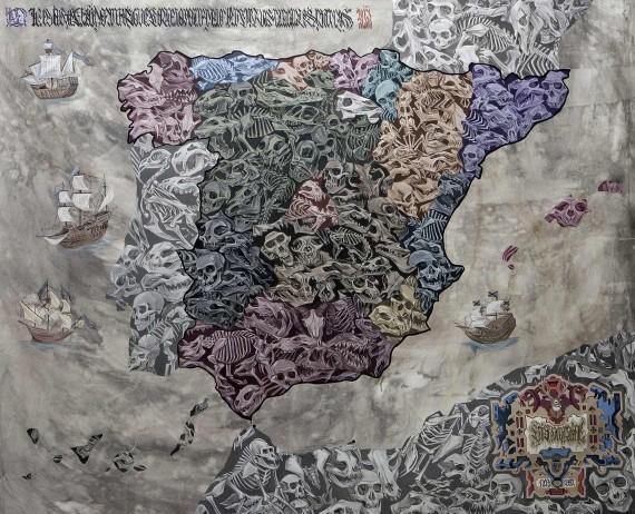 Cartografía 195x162cm